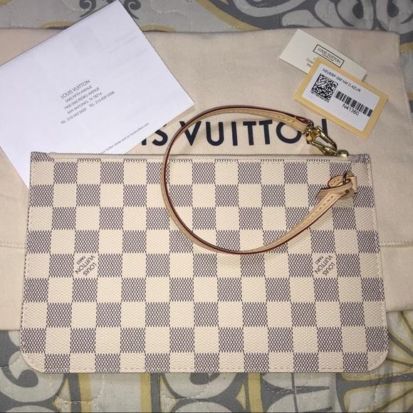 323b1ea01de Louis Vuitton Neverfull MM GM Damier Azur Pochette